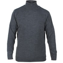 Enrico Polo - Men`s Knitted Rollup Pullover - Dark Grey