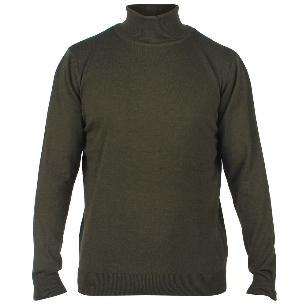 Enrico Polo - Heren pullover met colkraag - Army
