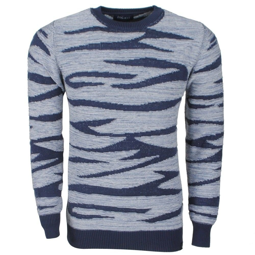 Ferlucci Ferlucci -  Exclusive Knitted Men`s  Pullover - Model Tino - Navy