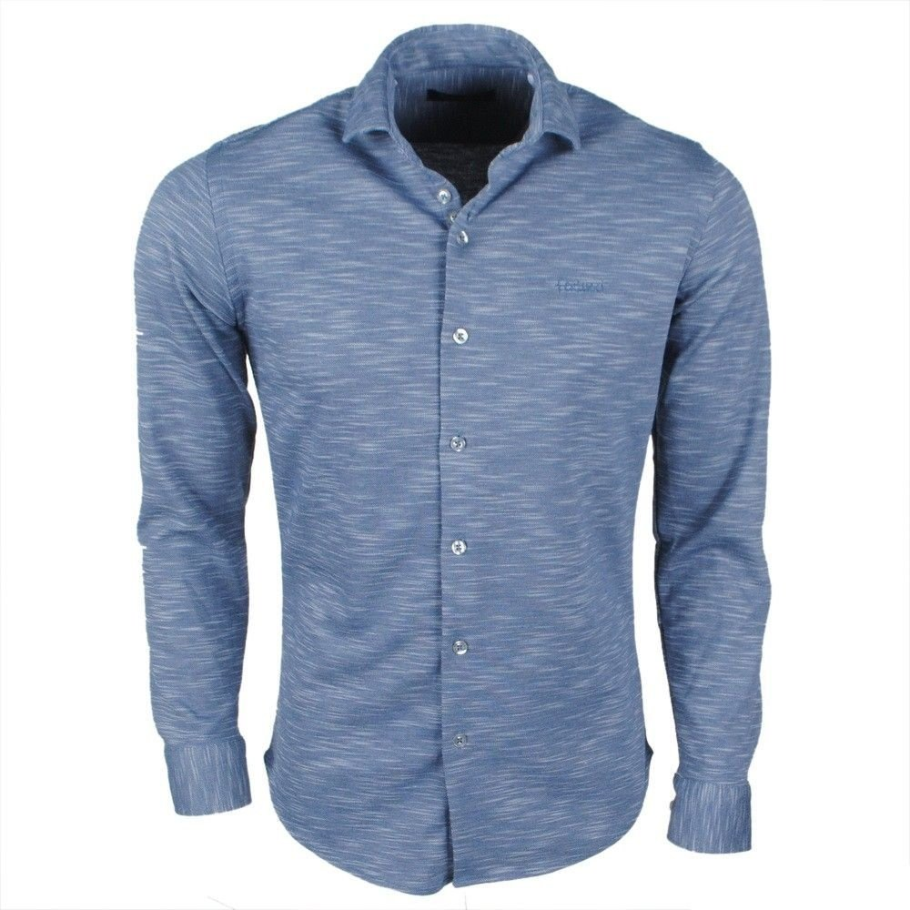 Ferlucci Ferlucci - Men's Shirt - Tricot Superstretch - Navy Melee
