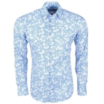 Ferlucci Ferlucci - Men's Shirt with Trendy Design - Calabria - Stretch - White