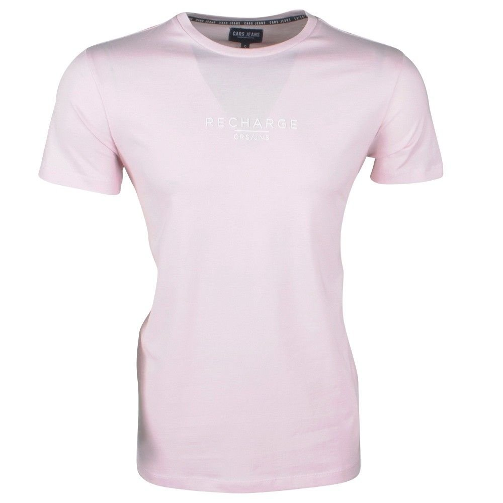Cars Jeans Cars Jeans - Heren T-shirt - Rechargets - Roze