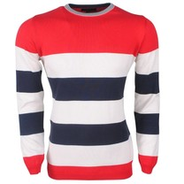 Ferlucci Ferlucci -  Exclusive Men`s Pullover - 100% Cotton - Daniel - Red