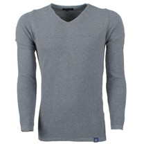 Ferlucci Ferlucci -  Exclusive Men`s Pullover - 100% Cotton - Bernardo - Grey