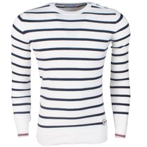 MZ72 MZ72 - Men's Pullover - Allure - Striped - White