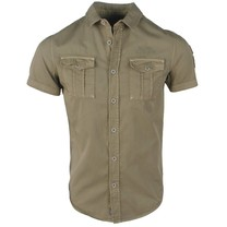 MZ72 MZ72 - Men's Short sleeve Shirt - Chock - Army