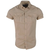 MZ72 MZ72 - Men's Short sleeve Shirt - Chock - Brown