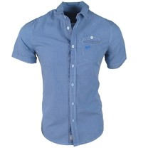 MZ72 MZ72 - Men's Short sleeve Shirt - Coal - Blue