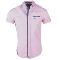 MZ72 MZ72 - Men's Short sleeve Shirt - Coal - Pink