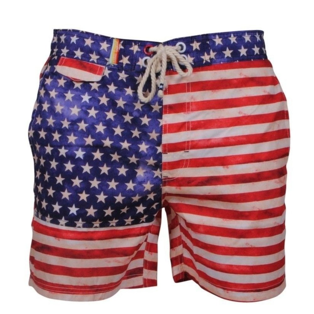 Montazinni Tokyo Laundry - American Flag - Zwembroek - Rood Wit Blauw