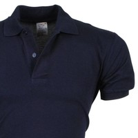 VDHT - Trendy Einfarbig Herren Polo Shirt - Regular Fit - Dunkelblau