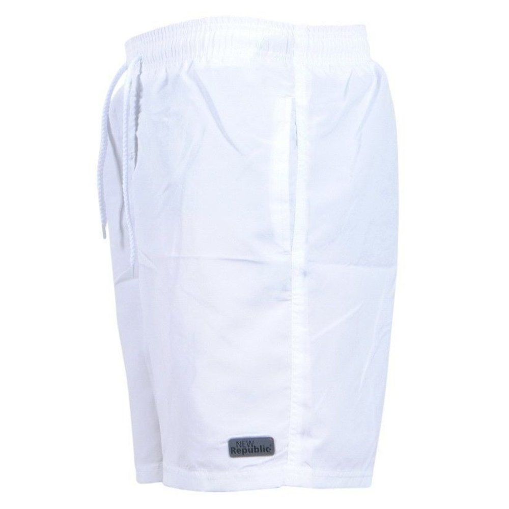 New Republic - Trendy Herren Beachshort - Weiß