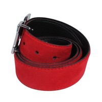 Montazinni Montazinni - Suede Belt With Silvern Buckle - Red