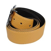 Montazinni Montazinni - Leatherlook Belt With Silvern Buckle - Yellow