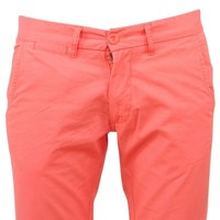 Rivaldi - Trendy  Men's  Chino - ketolin - Length 32 - Corail