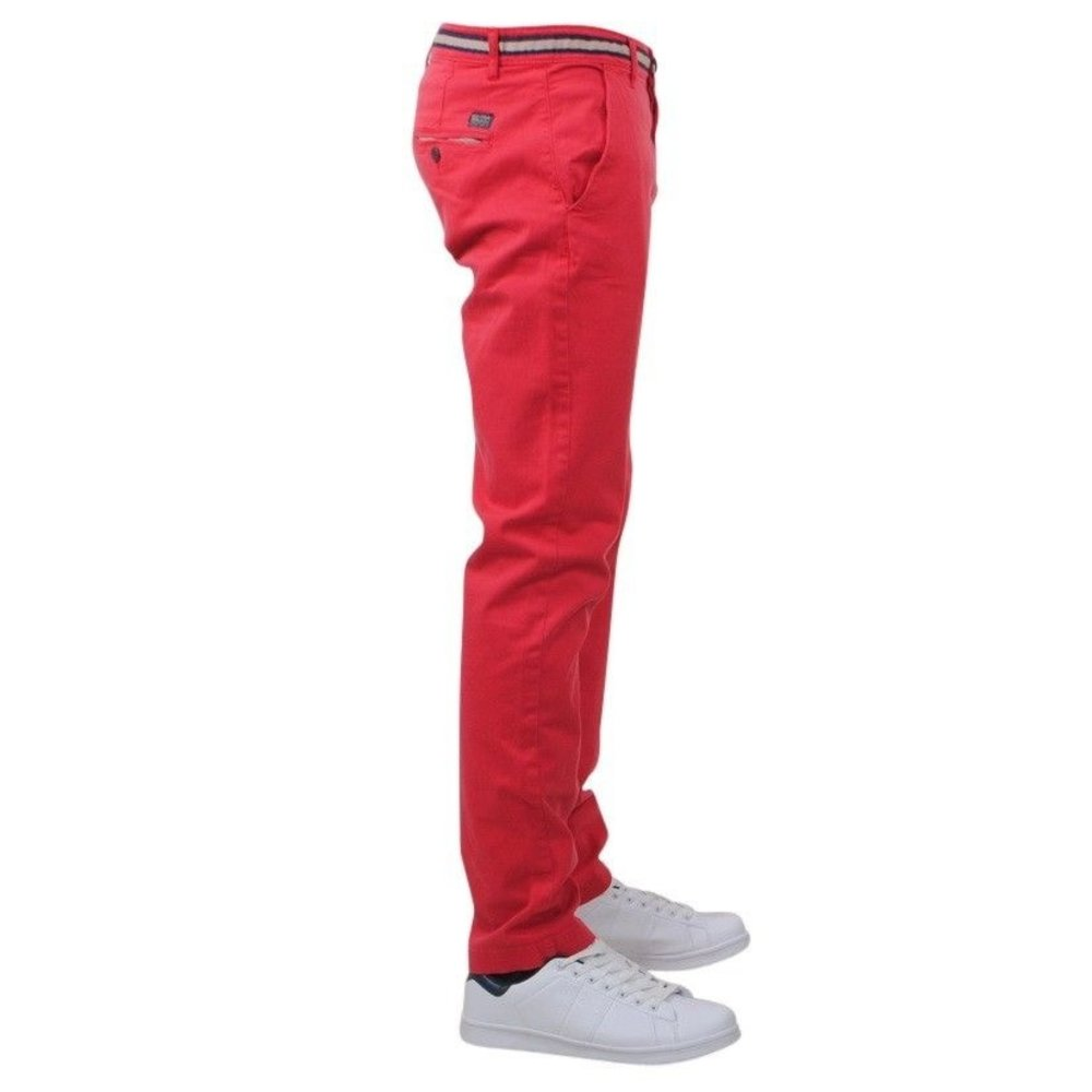 Biaggio - Taniel - Chino pour Homme - Longueur 34 - Rouge