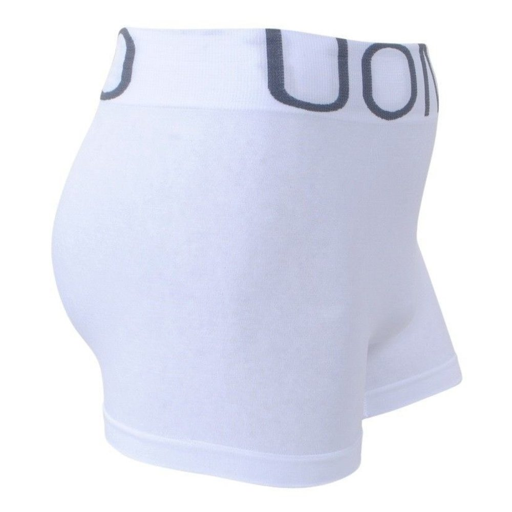 Uomo - Heren Boxershort - Stretch - Wit