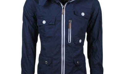 Soulstar Heren Zomerjas Fleece Voering Capuchon Mountaineer Navy