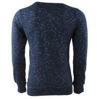 Earthbound - Pull homme - Col rond - Sweat - Bleu marine