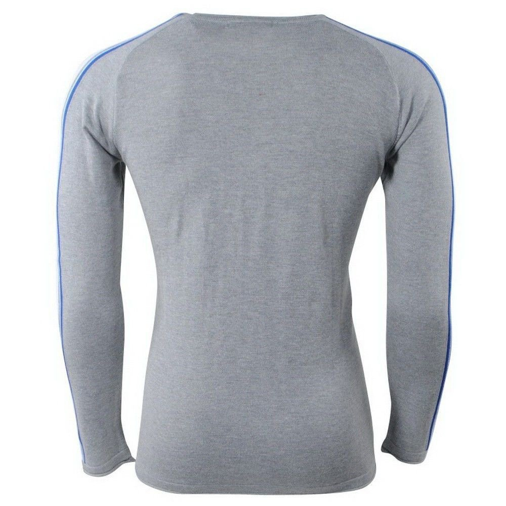 Carisma Carisma - Men Pullover - Round Neck - Fine Knitted - Disguise - Grey