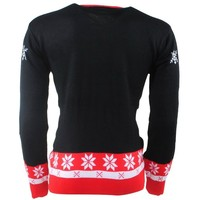 New Republic - Unisex Christmas Pullover - Fine Knitted - Round Neck - Black