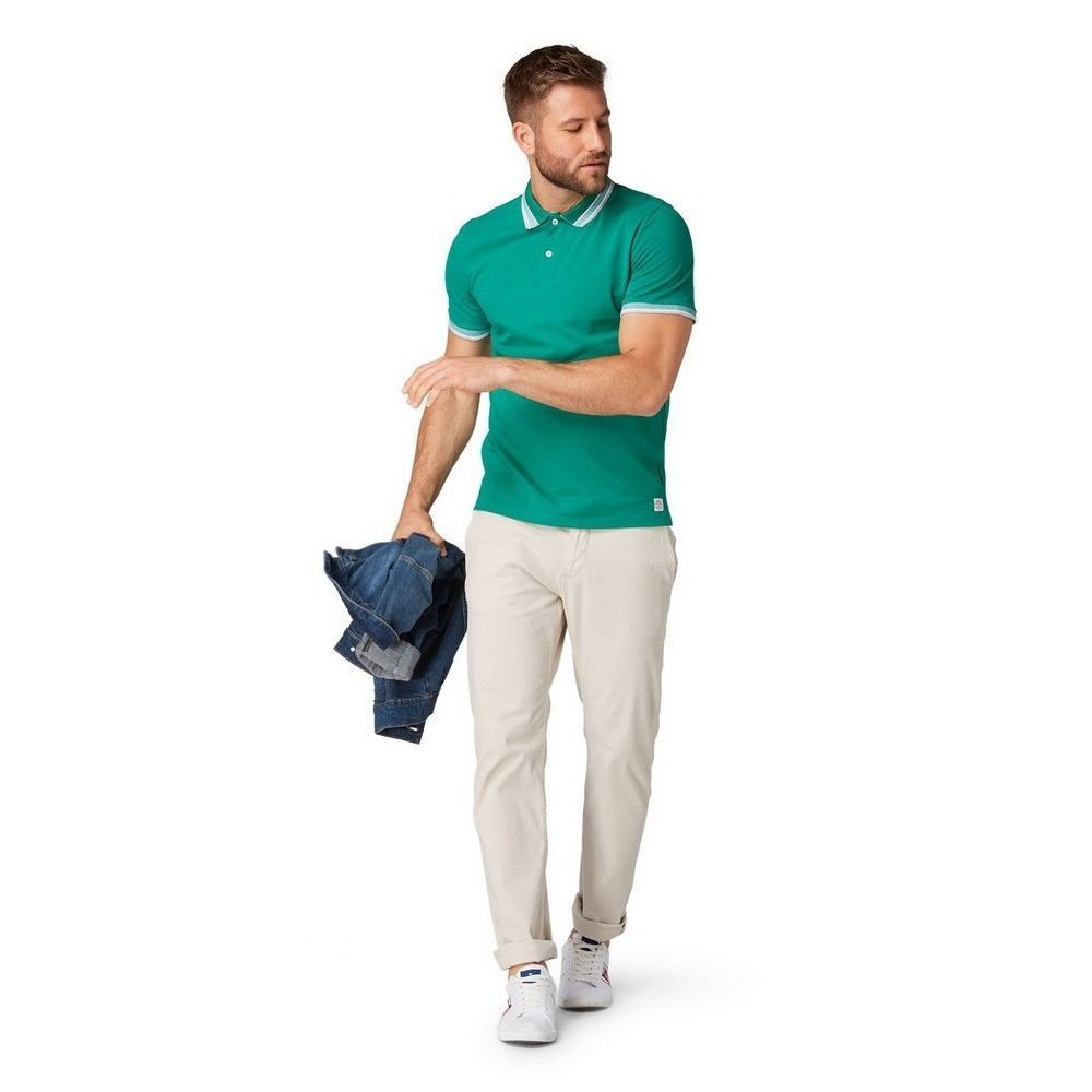 Tom Tailor Tom Tailor - Heren Polo - Plain Green