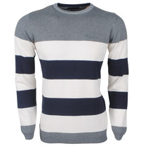 Ferlucci Ferlucci -  Exclusive Men`s Pullover - 100% Cotton - Daniel - Grey