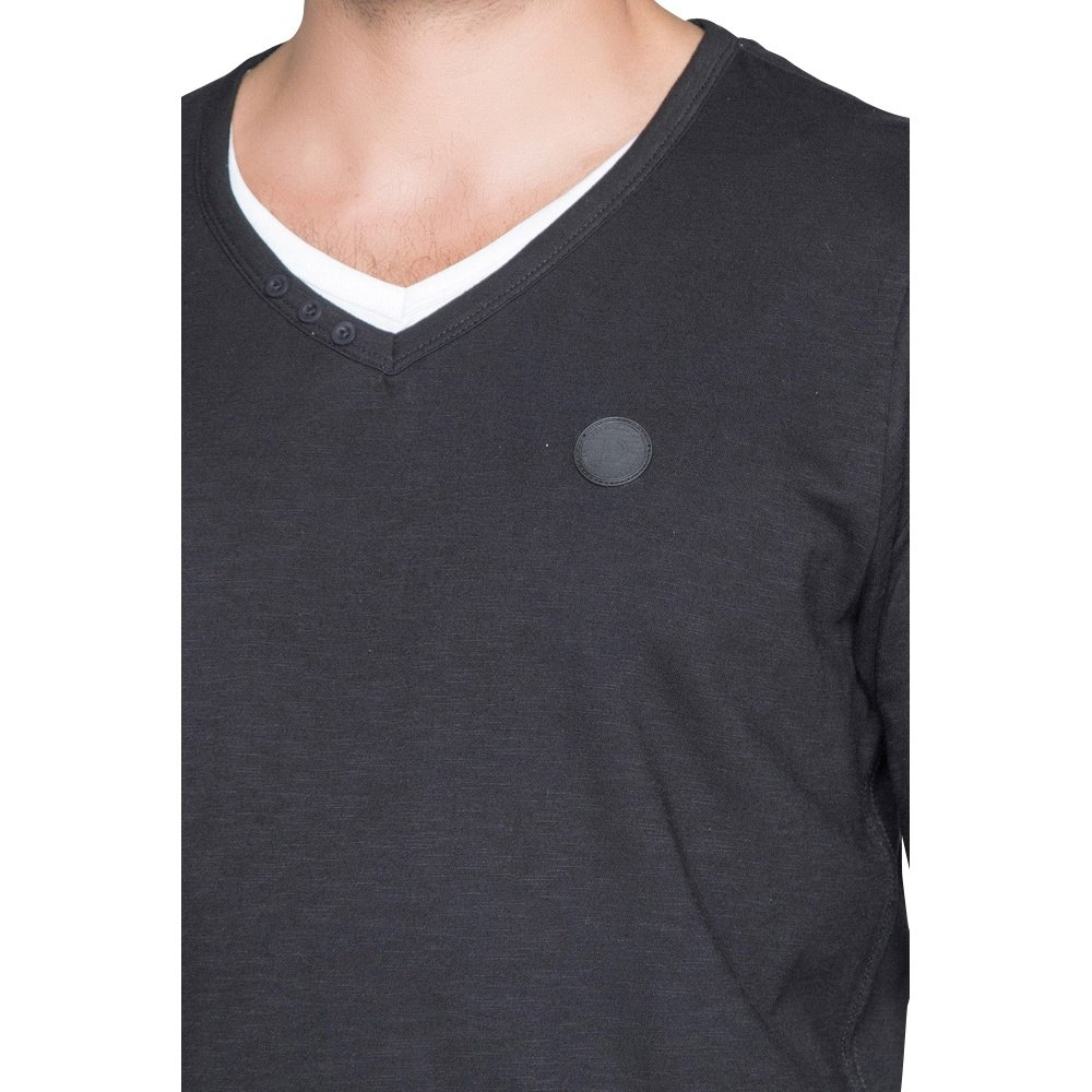 Deeluxe Deeluxe - Men`s Shirt V-Neck Legendson - Black