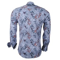 Ferlucci Ferlucci - Men's shirt - Calabria - Stretch - Autumn - Grey