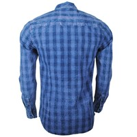 Earthbound - Men`s Shirt - 2 Chest pockets - Checkered - Blue