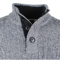 MZ72 MZ72 -  Men`s Cable Pullover - Heavy Knitted - Model Soground - Grey