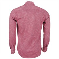 Ferlucci Ferlucci Heren Overhemd - Tricot Superstretch - Rood  Melee