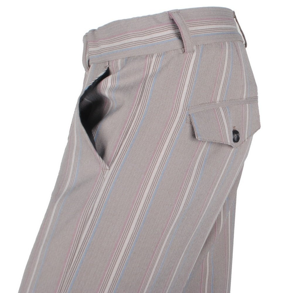 Ferlucci Ferlucci- Herren Chino - Fish - Gestreift - Stretch - Sand