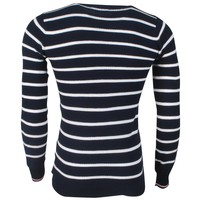 MZ72 MZ72 - Pull pour Homme - Allure - Rayé - Marine