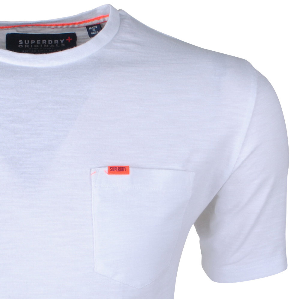 Superdry Superdry - T-Shirt pour homme - Pocket Tee - Blanc