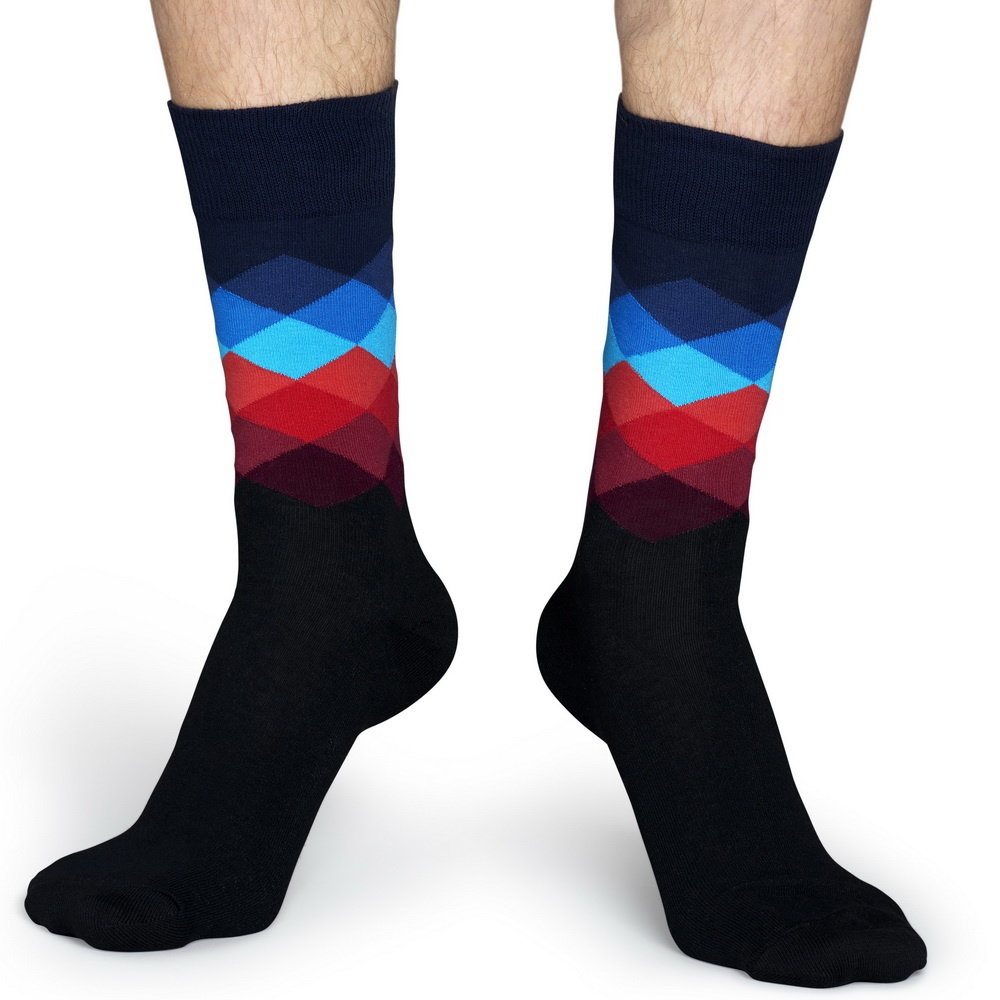Happy Socks  Happy Socks -  Faded Diamond - Schwarz