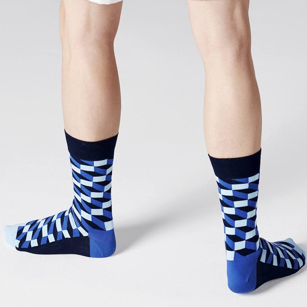 Happy Socks  Happy Socks - Filled Optic - Navy