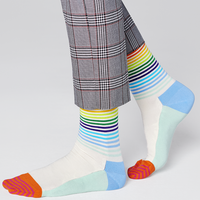 Happy Socks  Happy Socks - Half Stripe - White