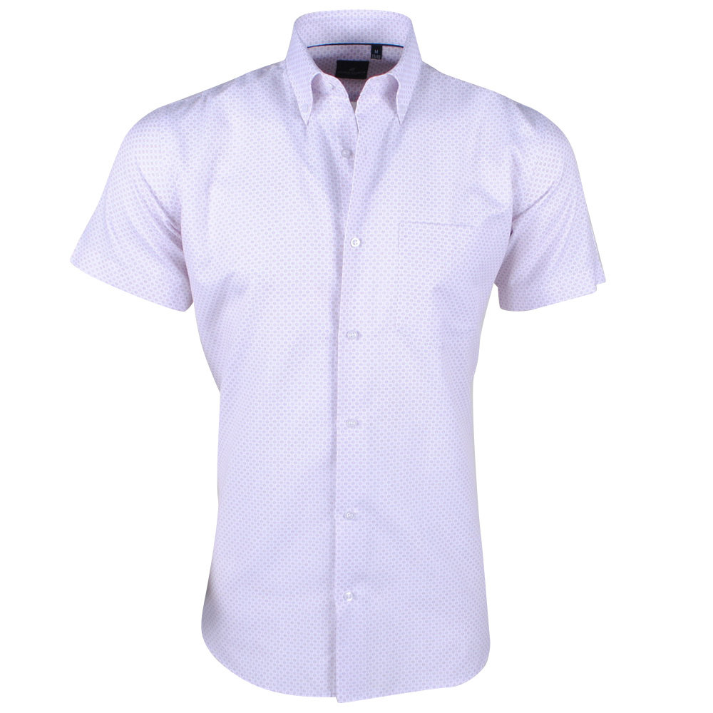 Montazinni Marco Cassette- Men's Short sleeve Shirt - Lino - White