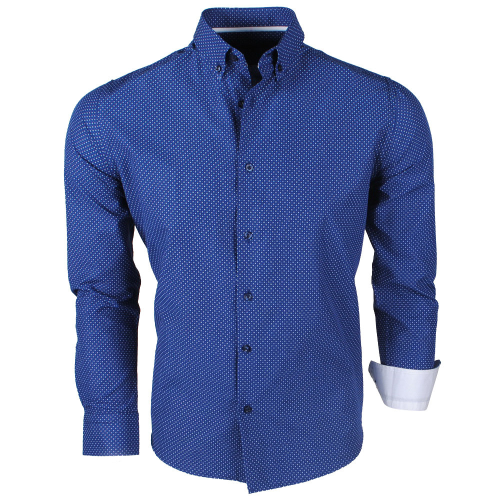 Montazinni Jan Paulsen - Chemise Design Homme - Regular Fit - Marine