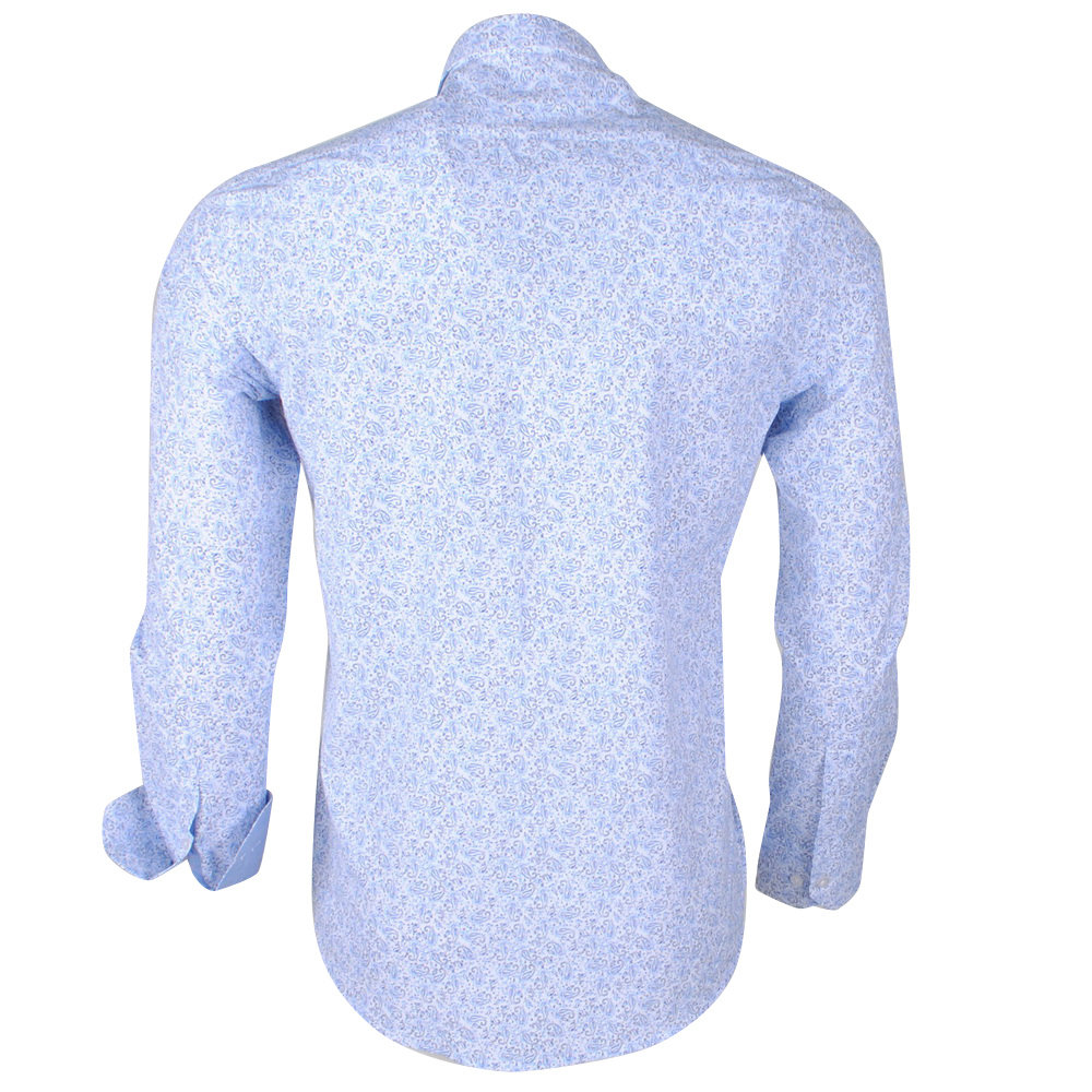 Montazinni Jan Paulsen - Herren Design Hemd - Regular Fit - Blau