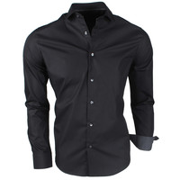 Montazinni Jan Paulsen - Men's Shirt - Regular Fit - Black