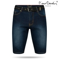 Pierre Cardin Pierre Cardin - Men's Short with Free Belt - Dark Wash - Denim