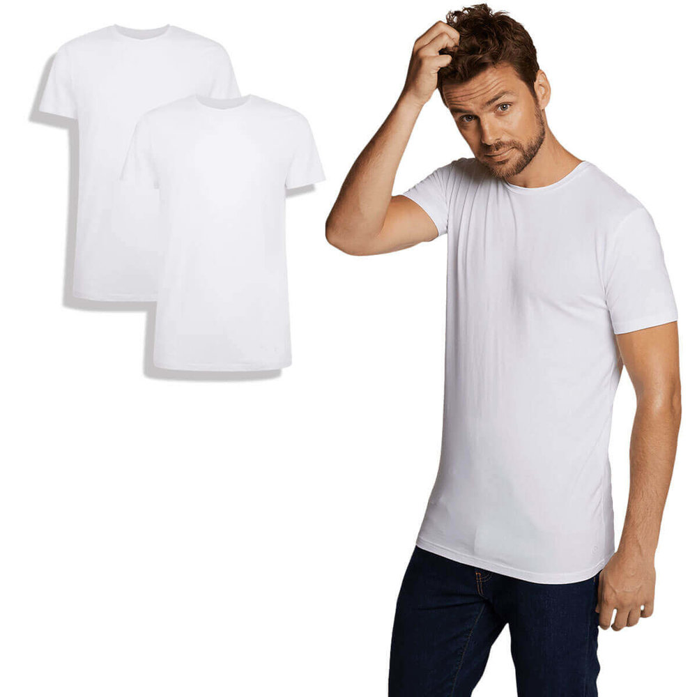 Bamboo Basics Bamboo Basics - Men T-Shirt - Round Neck - White