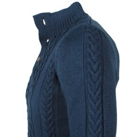 Ferlucci Ferlucci -  Exclusive Men`s Cable Pullover - Heavy Knitted - Model Rino - Navy