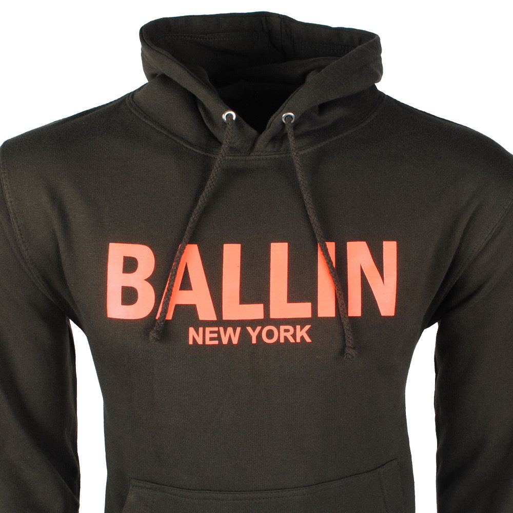 Ballin Ballin - Herrenpullover - Kapuze - Sweat - Armee / Orange