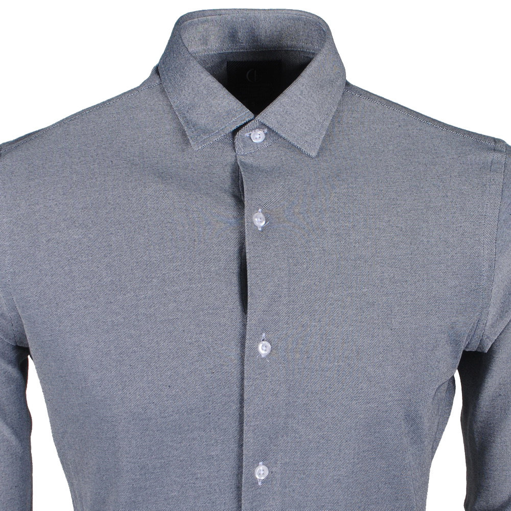 New Republic Sette Fratelli Chemise Homme  - Tricot Superstretch - Gris