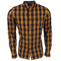 Deeluxe Deeluxe - Men's Shirt - Yellow / Navy