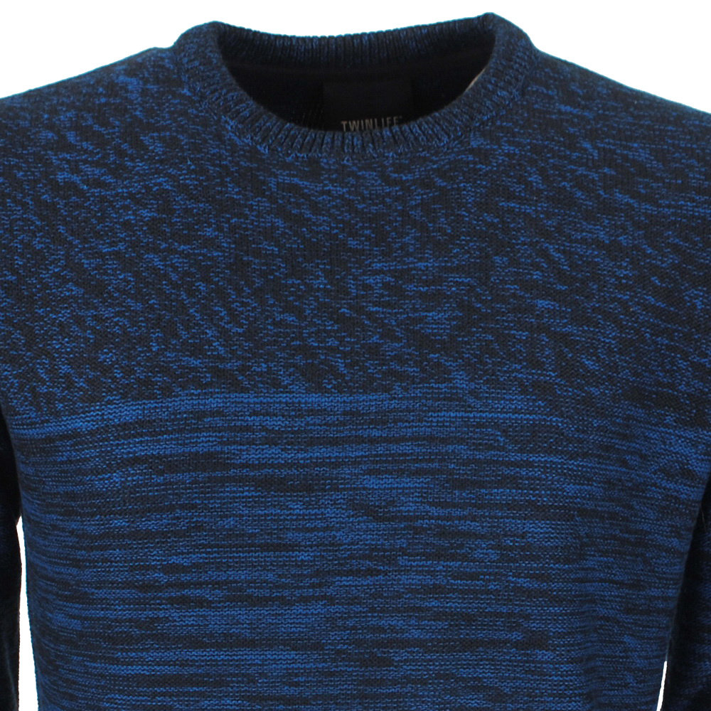 Twinlife  Twinlife - Men's Pullover - Fine Knitted - Navy