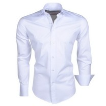 Ferlucci Ferlucci - Trendy Italian Solid Color Men's Shirt - Napoli - White